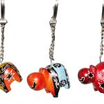 ZZ0013-1 Schlüsselanhänger Hippo Speckstein color 3 cm Kenia