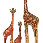 HO0011-0 bis HO0011-7 Giraffe Jacarandaholz von 20 cm -180 cm Kenia