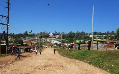Blick von oben auf Tabaka