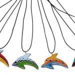 ZK0003-3 Kette Delfin Speckstein color 3 cm Kenia