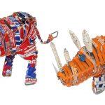 KE0005-6 Recycling Tiere versch. Modelle 15-20 cm Kenia