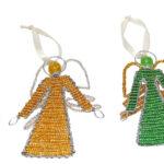 KE0040-8 Engelanhänger Glasperlen 10 x 8 cm Kenia