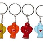 ZZ0023-2 Schlüsselanhänger Engel mit Herz 3 cm Kenia