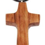 HK0001-1 Kette Kreuz kantige Form Olivenholz 2,5x4 cm Kenia