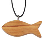 HK0001-4 Kette Fisch Olivenholz 2x4 cm Kenia
