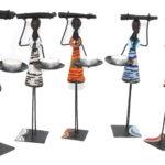 KE0001-0 Kerzenständer Masai Figur 20cm