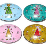 """SP0144-12 Handschmeichler """"angels are everywhere everyday"""" oval 6-7 cm Kenia"""